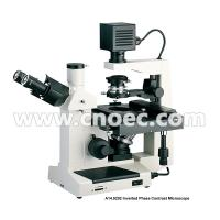 China  400X Plan Phase Contrast  Inverted Optical Microscope Halogen Lamp Rohs CE A14.0202  for sale