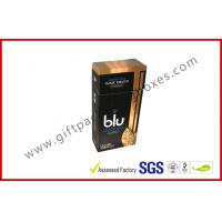 Buy cheap Custom Paper Cigarette Cigar Gift Box With Gradient Golden Printing from wholesalers