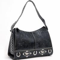 Buy cheap Men's simple black handbag with PVC triming from wholesalers