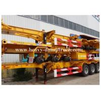 Buy cheap Deck commercial flatbed trailers 40ft flat for transport containers , bulk cargo with warranty product