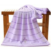Buy cheap Embroidered Lavender Bath Towel For Adults , 70 * 140cm Oversized Bath Towels  product