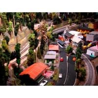 Buy cheap HO scale Model Car with LED light for the model train layout product