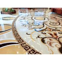 Buy cheap Hall Decorative Natural Stone Floor Medallions Nice Water Jet Pattern product