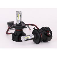 Quality H4 8000LM 12V LED Headlight , Philips ZES LED Lights Bulb With Gauss Cooling Fan for sale