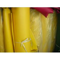 Buy cheap Fireproof PVC Tarpaulin Fabric PVC Woven Fabric , Yellow / Blue / Green product