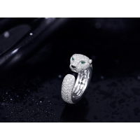 Buy cheap Diamond 18K White Gold Panthere Cartier Ring , Cartier Panther Ring With Emeralds Onyx product