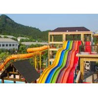 Rainbow Adult Swimming Pool Water Slides For Holiday Resort 2-14 Visitors for sale