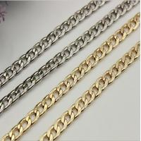 Buy cheap Widespread sale good quality 90 mm length iron material flat shape gold metal chain for lanyard product