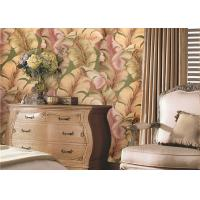 Buy cheap Non-Woven Solid South East Coloured Striped Wallpaper , Japanese Banana Leaf Pattern Wallpaper from wholesalers