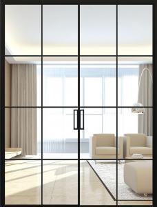 Buy cheap Double Track Narrow Slim Sliding Glass Doors Aluminum Thin Frame product