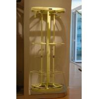 Buy cheap Milk Yellow Heavy Duty Revolving Garment Rack, Adjustable Rotary Wardrobe Clothes Rack product