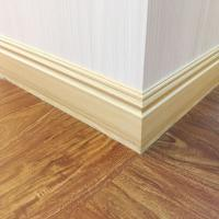 China 120mm Cheap Decorative Waterproof Commercial Wood color PVC Skirting Boards Floor Edges Coloured Skirting Boards on sale