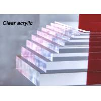 Buy cheap Indoor / Outdoor Clear Acrylic Sheet 80% - 90% Light Transparency For Engraving Letters product