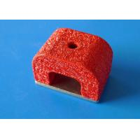 Buy cheap 7.3 g/cm3 Alnico Horseshoe Magnet , Red Painted Military Magnets product