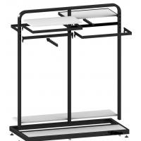 Buy cheap Metal / Wood  Customized Color Display Rack Stand Garment Showrooms  600*500*1000mm product