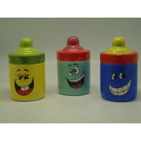 Buy cheap Smiling Face Porcelain Childrens Piggy Bank Feeding Bottle Shaped 10 X 10  X 16 Cm product