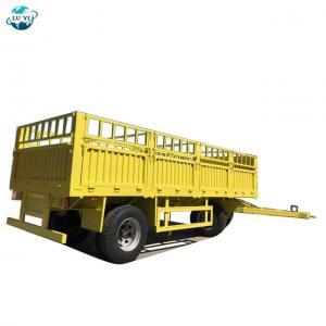 China LUYI 40 Ton Sidewall Cargo Fence full trailer truck on sale