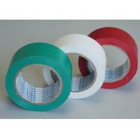 Buy cheap Green / White Stabilized Floor Marking Tape Adhesive Insulation Plasticized PVC Matte Film product