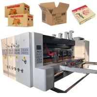 China Corrugated Carton Paper Pizza Box Making Machine With Slotting And Die Cutting on sale