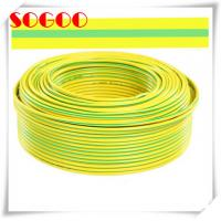China 12 Awg Dia Bare Copper Ground Wire Cable 16mm2 10mm2 Green Yellow Color on sale