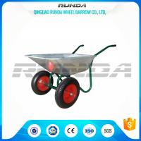 Buy cheap Durable Heavy Duty Wheelbarrow , Two Wheel Steel Wheelbarrow Wide Stance Legs product