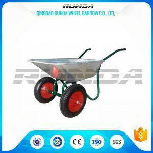 Buy cheap Durable Heavy Duty Wheelbarrow , Two Wheel Steel WheelbarrowWide Stance Legs product