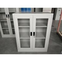 Buy cheap Half height swing open glass door storage file cabinet Powder coating surface product