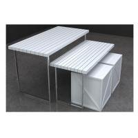 White Nesting Table For Retail Store ~ Customized retail display nesting tables white clothing