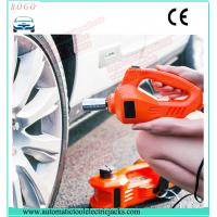 China emergency tyre change tools 3 tons auto lift electric  jack with wrench and air compressor wholesale