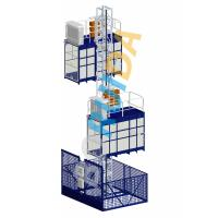 Buy cheap Blue Cage Of Construction Hoist Elevator , Construction Material and Personal , Single Lifting Cage product