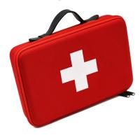 Buy cheap Red EVA First Aid Case with PU Carrying Handle and Embroidery Logo product