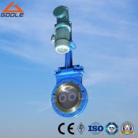 China Electric-Hydraulic Short Type Wafer Ceramic Slurry Knife Gate Valve (GPZ273TC) on sale