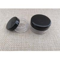 Buy cheap Black Cap Plastic Cosmetic Jars Abs / Pp Material For Skin Care Products product