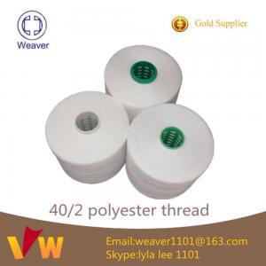 Quality 明るい100%は陶磁器のポリエステル縫う糸の製造業者を回しました for sale