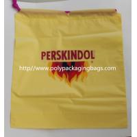 Buy cheap Yellow Waterproof Nylon Mesh Promotional Drawstring Bags / Personalized Drawstring Bags product