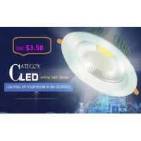 Buy cheap COB LED Down Light with Epistar LED Isolated IC constant driver 3W/5W/7W/12W/15W CE RoHs product