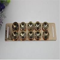 Buy cheap Shoes accessories light gold iron sheets diamond decorative metal buckle parts for shoelace product