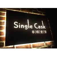 China Wall - Mounted Hanging LED Light Box Sign With Laser Metal Cutting Contents on sale