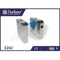 Buy cheap Waist Height Access Control Turnstile Gate / Flap Barrier System For Subway Station product
