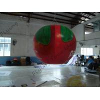 Quality B1 Fireproof PVC Apple Fruit Shaped Balloons With Full Digital Printing 3m for sale