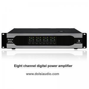 Amplificador de poder audio digital de oito canais pro