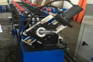 China Chain Or Gear Box Driven System 1.2mm Door Frame Machine on sale