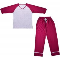 Buy cheap Embroidered Womens Cotton Knit Pajamas / Ladies Loungewear Sets Any Color Available product
