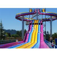 Fiberglass Swimming Pool Water Slides , Playground Water Slides For Kids for sale