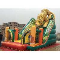 China Outdoor Kids Amusement Park PVC Animal Slide Leopard Inflatable Ground Slide on sale