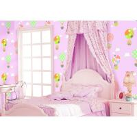 Buy cheap Chinese Factory Interior Kids Room Wallcovering Pink Blue Color Catoon Design Wallpaper product