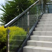 Buy cheap Low Price Stainless Steel Hardware Good Quality Square Pipe Side Mounted Modern Design Glass Railing product