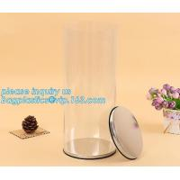 Buy cheap clear PVC PET can for food canning,Customized round clear paint can with tin lid,paint can with tin top & bottom and han product