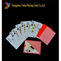 Buy cheap Poker Size Standard Index Jumbo Playing Cards / 100% Plastic Casino Grade Playing Cards product
