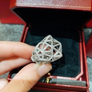 Buy cheap PANTHÈRE DE CARTIER RING WHITE GOLD, ONYX, EMERALDS, DIAMONDS product